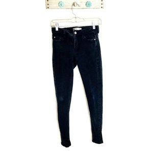 Zara Basic size 2 Black Distressed Skinny Jeans